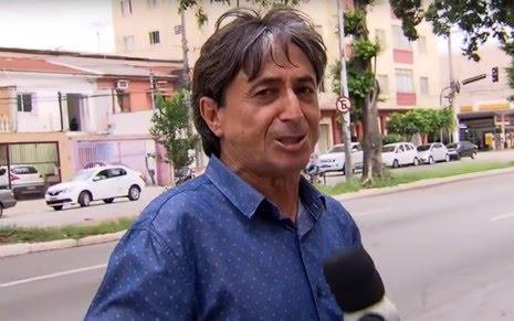 O repórter Gérson de Souza, do Domingo Espetacular, que está sendo acusado de assédio sexual - Reprodução/Record